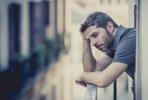 man in need of mindfulness based stress reduction