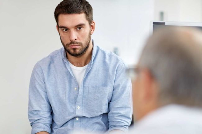 a man learns the difference between a psychologist and a therapist