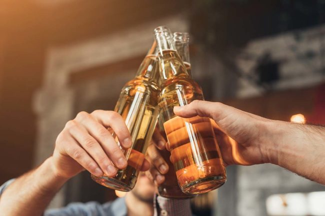group indulges in casual drinking that leads to alcoholism